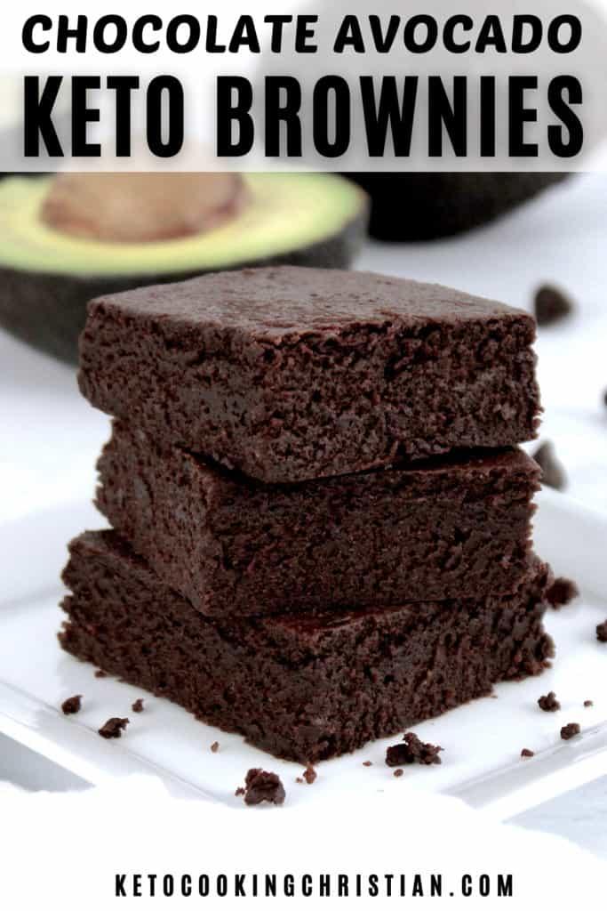 Keto Chocolate Avocado Brownies PIN