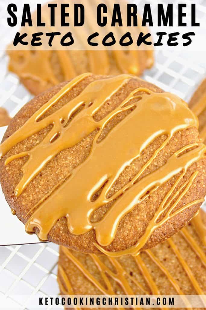 Keto Salted Caramel Cookies Pin