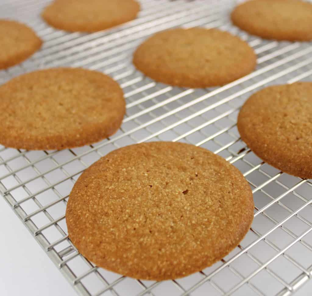 salted caramel cookies on cooling rack