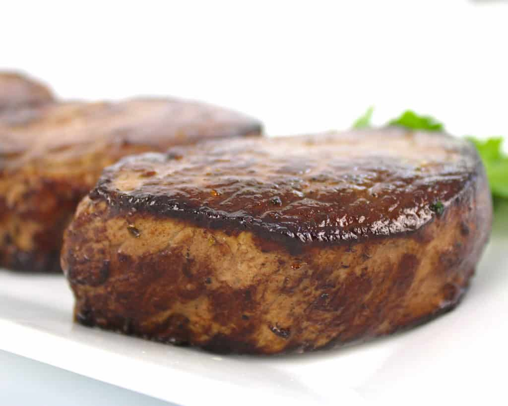 closeup of seared beef tenderloin