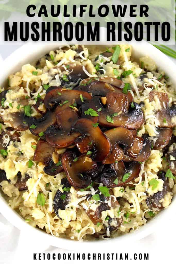 Keto Cauliflower Mushroom Risotto pin