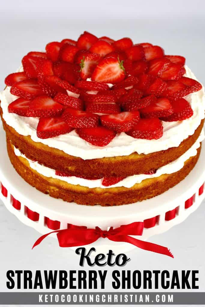 Keto Strawberry Shortcake Pin