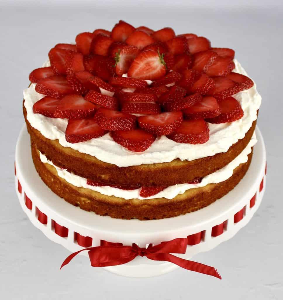 2 layer strawberry shortcake